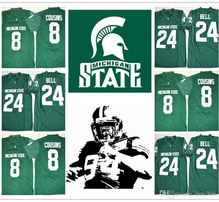 Compre 2018 Le Veon Bell Michigan State Spartans College NCAA Camisetas De  Fútbol 8 Kirk Cousins 24 Le Veon Bell Green Cosido Jersey Envío Gratis A   17.26 ... f99ce9d0e6101