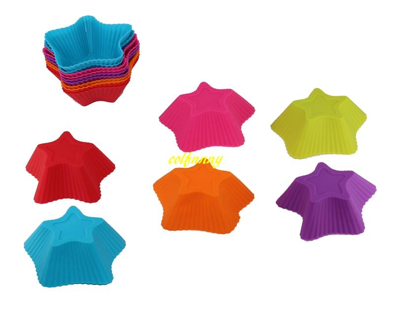 FAST Shipping Five-pointed star Shaped Silicone Muffin Cases Mould Cake Cupcake Liner Baking Mold
