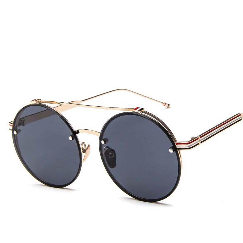 d2ba6d670675 2018 Women Multi Color Round Sunglasses Golden Frame Glasses Shades Hippie  Lennon Ozzy 60s 70s Vintage Steampunk Unisex Men Police Sunglasses  Serengeti ...