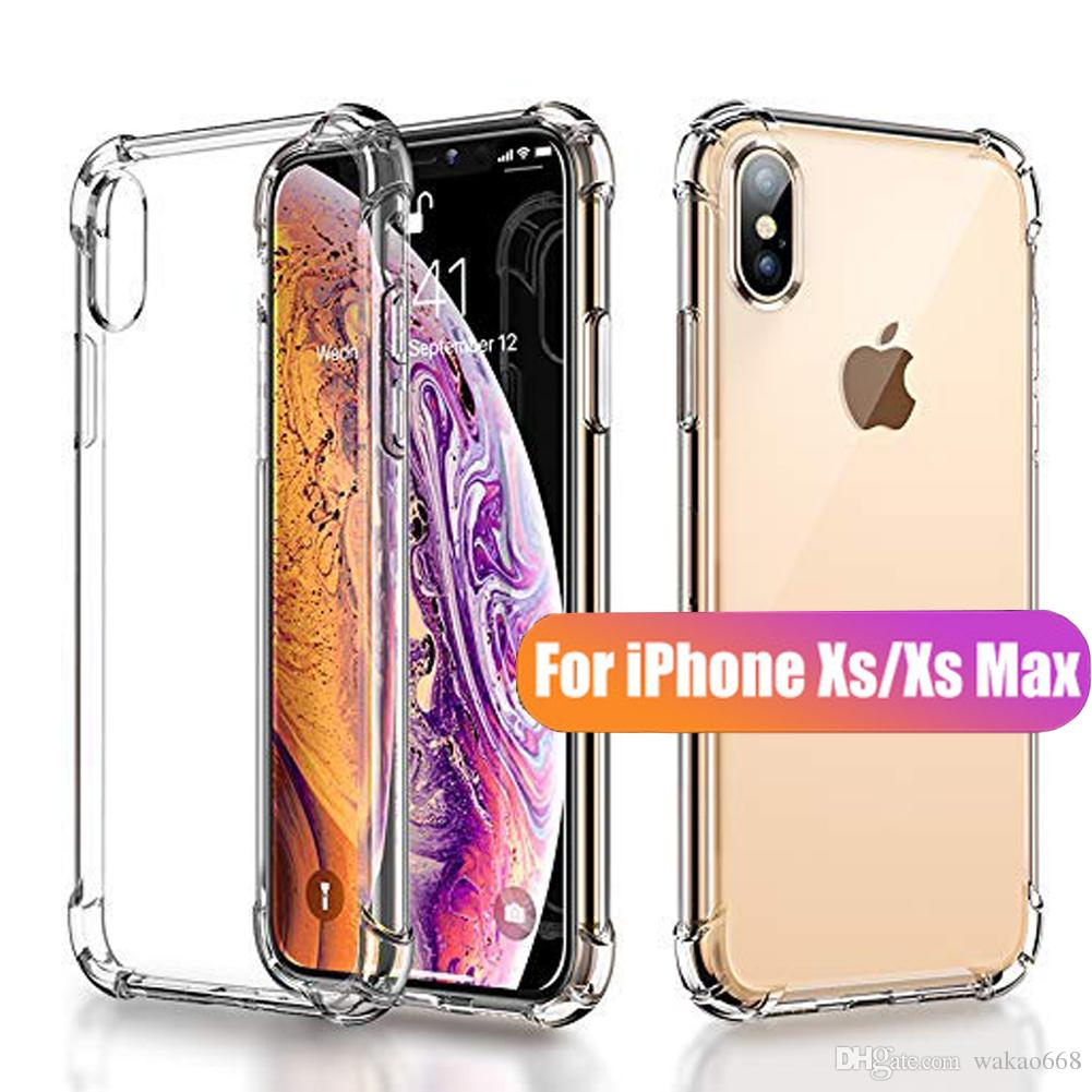 reputable site c8e83 3ae62 High Quality For NEW iPhone X XR XS MAX 8 7 Plus Case Crystal Clear Shock  Absorption Technology Bumper Soft TPU Cover Case