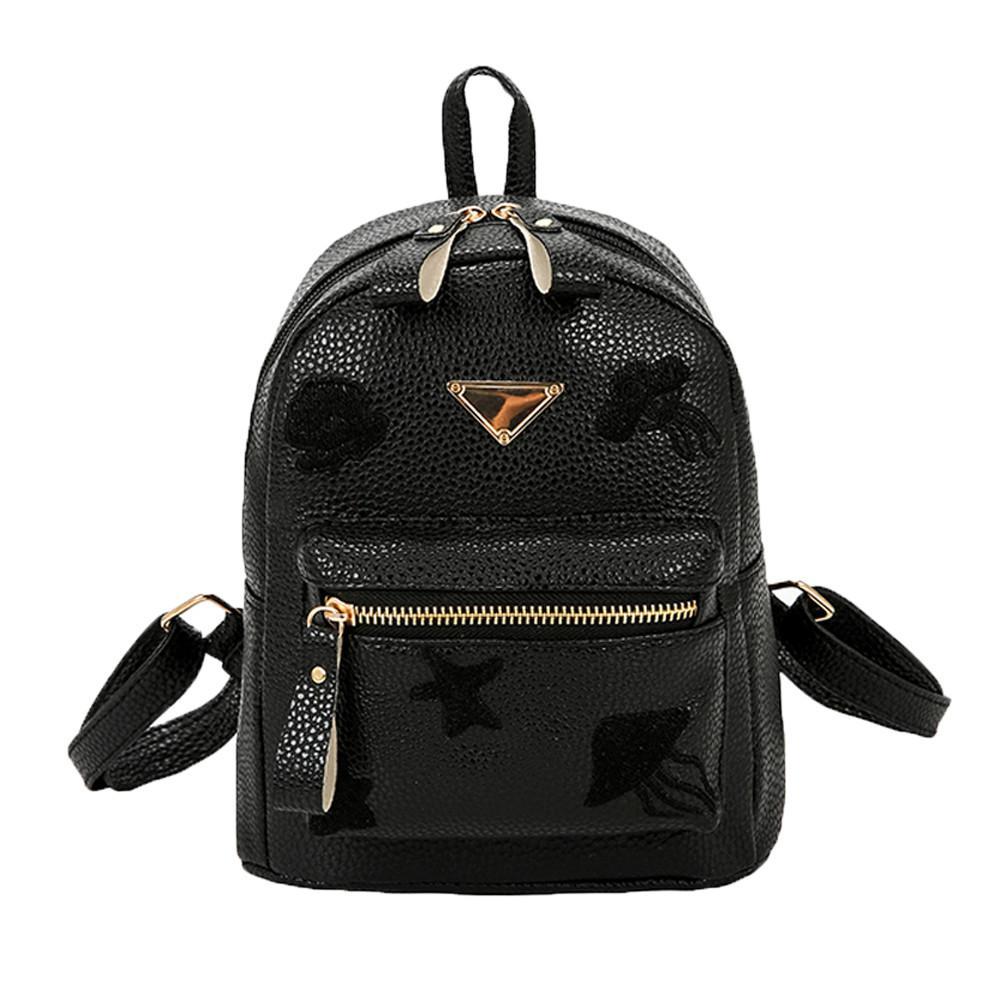 d91ebdd7b581 Women Girl School Bag Fashion Leather Travel Small Backpack Satchel  Shoulder Rucksack Backpack For Teenage Girls