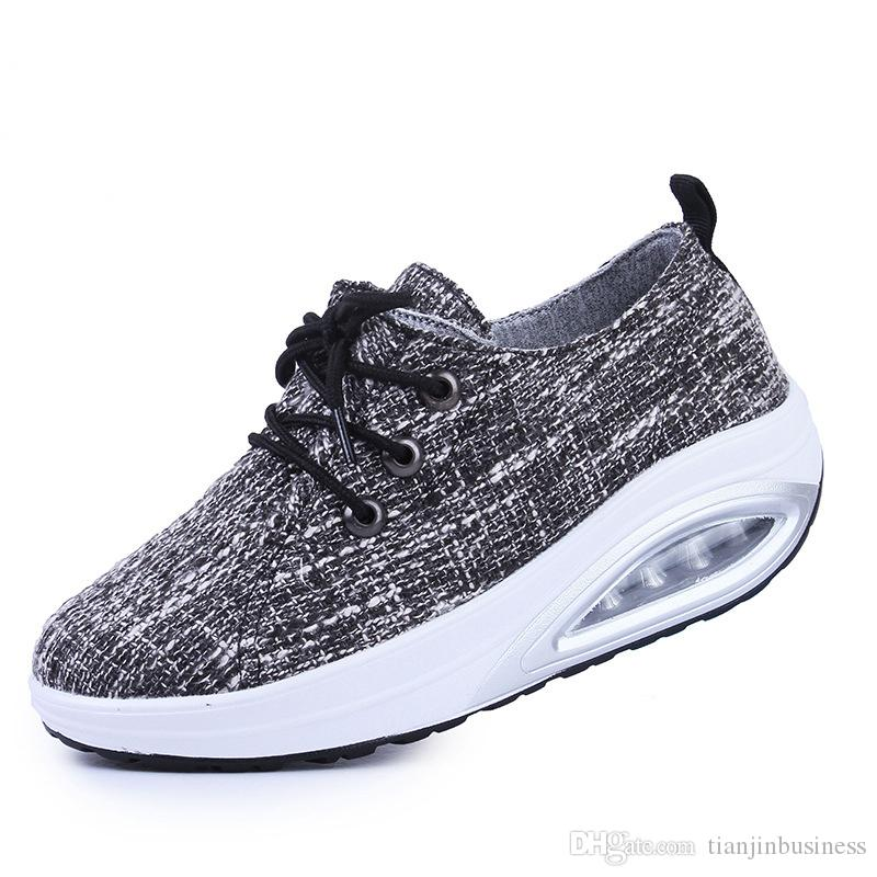 Toning Shoes Breathable Lose Weight Platform Walking Shoes Woman Healthy  Fitness Swing Rocking Shoes Sneakers Plus Size 42 Online with  44.32 Piece  on ... 07f8f2327