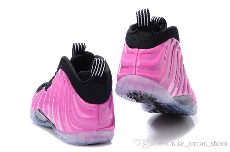 2018 Erkekler Basketbol Ayakkabıları Penny Hardaway Polarize Pembe Metalik Gümüş Siyah Beyaz Erkek Spor Sneakers Köpük Bir Ayakkabı konfor