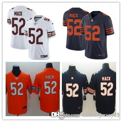 NEW  52 Khalil Mack Chicago Bears Jersey Mens 10 Mitchell Trubisky ... 665b43c06