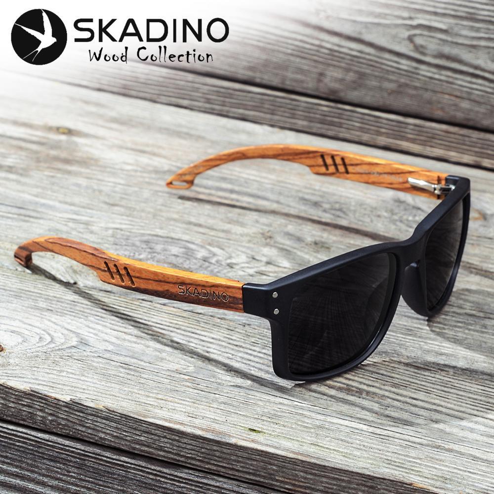 7b280c84ed7 SKADINO Zebra Wood Men Sunglasses Polarized Wooden Sun Glasses For Women  Blue Green Lens Handmade Fashion Brand Cool UV400 Police Sunglasses  Serengeti ...