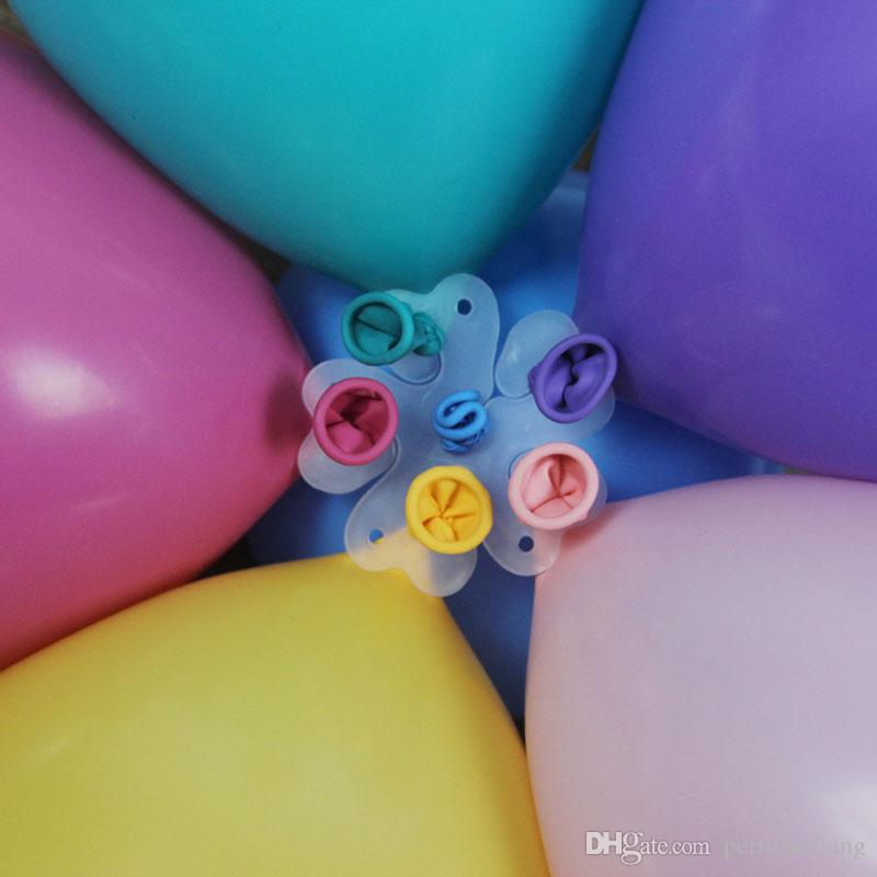 5 In 1 Balon Modelleme Mühür Klip Balon Sopa Erik Çiçek Kravat Lateks Sızdırmazlık Klipler Düğün Parti Dekorasyon ZA6557