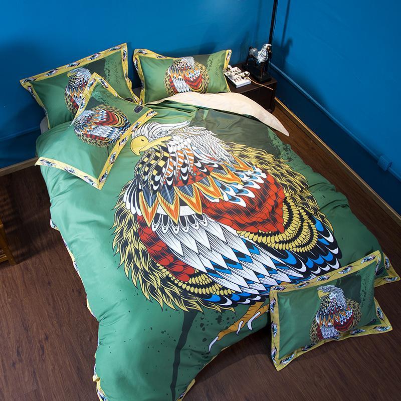 Owl Bedding Set Colourful Animal Duvet Cover Quilt Cover Pillow