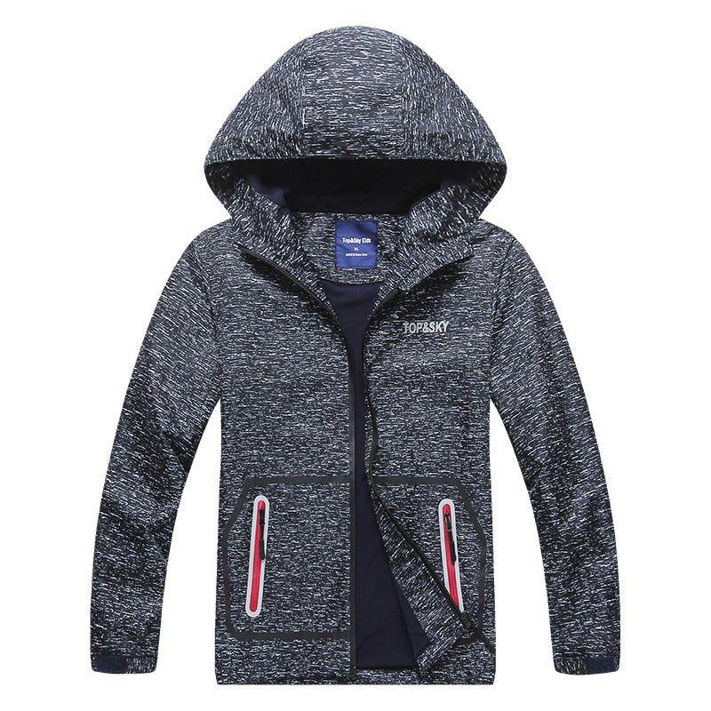 492a99f12 New Boys Jacket Polar Fleece Spring Autumn Kids Hooded Jackets Coat  Waterproof Windproof Children Clothes Black Jackets For Boys Kids Jacket  Online From ...