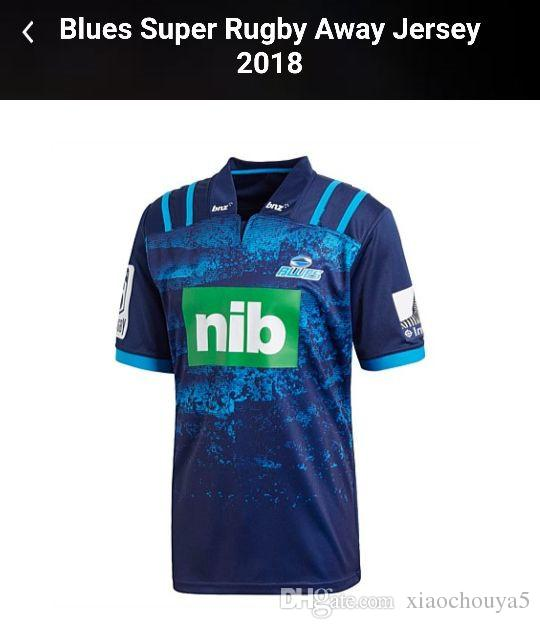5fdfb00a526 2019 2018 Blues Super Rugby Home Jersey Rugby League New Zealand Super Rugby  Union Blues High Temperature Shirts Size S M L XL XXL 3XL From Xiaochouya5,  ...