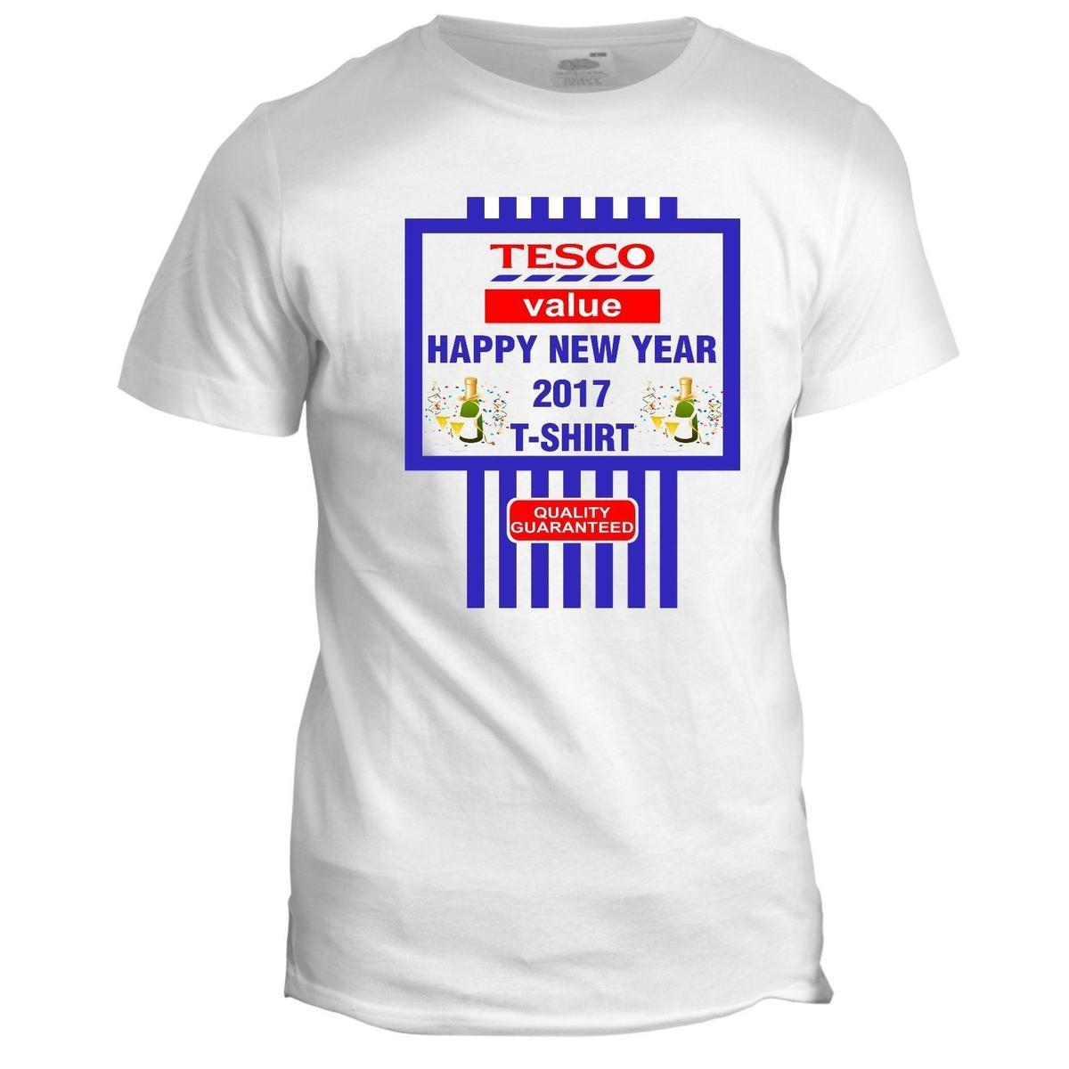 New Year 2017 Happy Union Jack Gift Present Fireworks Funny Slogan T Shirt