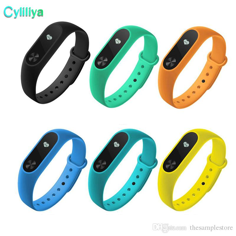 M2 XIAOMI Fitness tracker Watch Band Heart Rate Monitor Waterproof Activity Tracker Smart Bracelet Pedometer Call remind With OLED Display