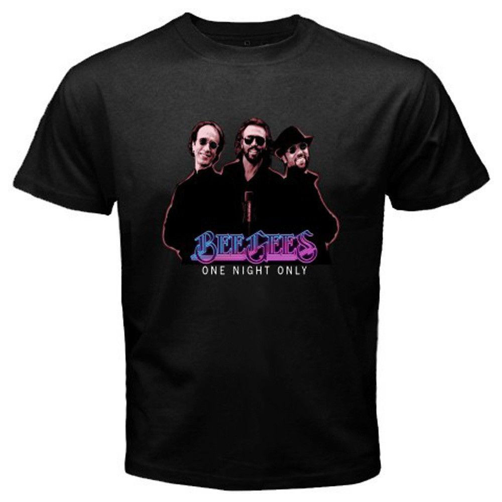 80e9ed8efc83b0 Style Vintage Tees Funny Short Top Bee Gees One Night Only Robin Gibb O  Neck Mens T Shirt Awesome Cheap T Shirts Online Shopping For T Shirt From  ...