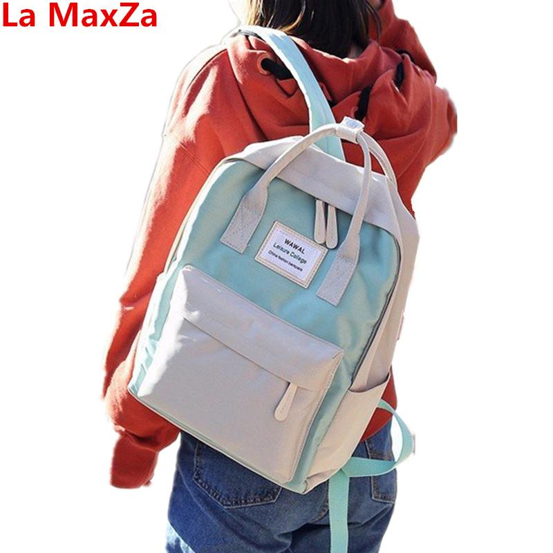 1a87455d72 La MaxZa Adults Student Korean School Bag Canvas Backpack Female School Bags  Girls Pink Canvas Sac A Dos Small Women S Backpack Womens Backpacks Pink ...