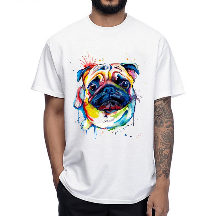d1c02f35 The Bad Pug T Shirt Humor Men T Shirt Funny Cute Dog Design Tops O Neck  Casual Man Tee Fashion Colorful Male Short Sleeve Really Cool T Shirts  Online ...