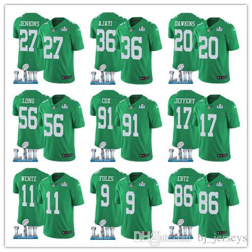 2018 Philadelphia Men S Eagle 86 Zach Ertz 9 Nick Foles Jersey 11 Carson  Wentz 36 Jay Ajayi 2018 Super Bowl Alshon Jeffery Dawkins Jerseys From  Tophotnewsix ... 6fa701ce5