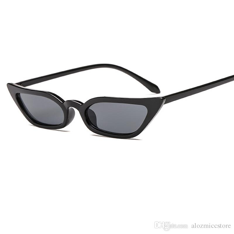 ee7d2d96c76 2018 New Female Vintage Sunglasses Women Cat Eye Luxury Brand Designer Sun  Glasses Retro Small Red Ladies Sunglass Black Eyewear Oculos W44 Oversized  ...