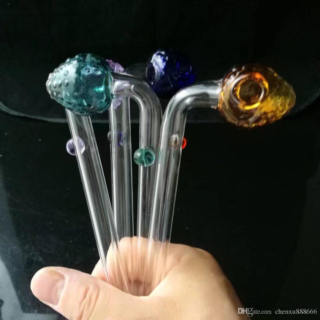 Цвет клубники горшок головы, Оптовая бонги горелки трубы воды трубы стеклянные трубы нефтяные вышки курение Бесплатная доставка