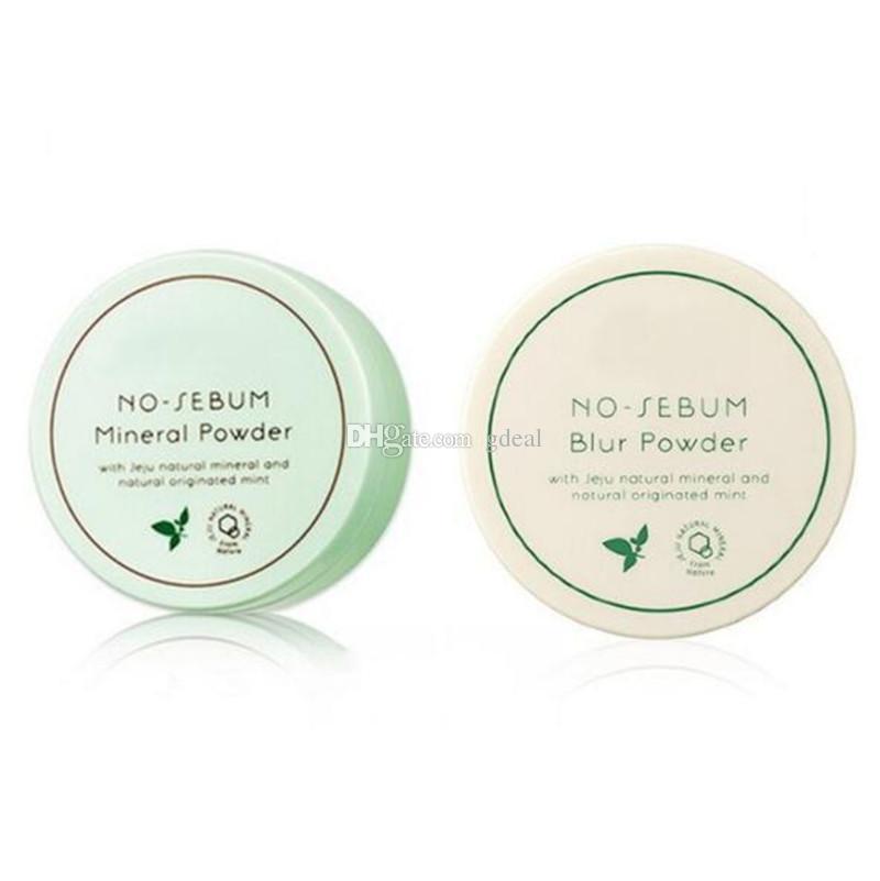 Corée Marque célèbre Innisfree sans poudre de sébum minéral + poudre de flou de contrôle de l'huile en poudre lâche maquillage réglage Fondation 5g 200