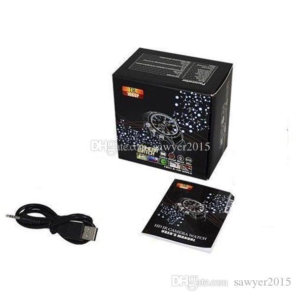 Full HD 1080P watch mini camcorder 8GB 16GB 32GB Waterproof IR Night Vision watch DVR camera audio video recorder