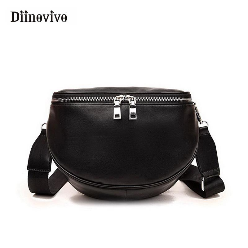 6ab8bff3566f DIINOVIVO Fashion Women Designer Handbag Half Round Female Crossbody Bag  Normcore  Minimalist Style Black Shoulder Bag WHDV0017 Cheap Purses Handbags  For ...