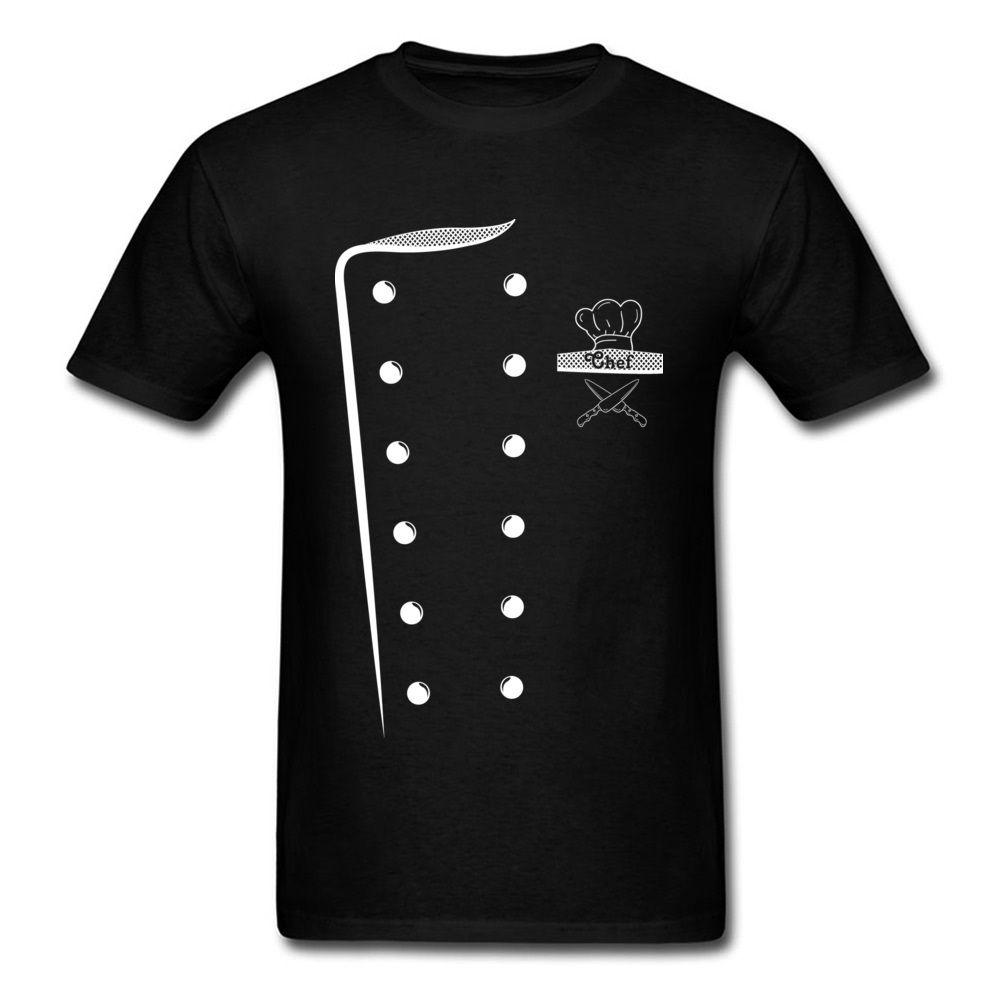 Compre Chef Traje De Diseño Camiseta Imprimir Hombres Cocineros Camiseta  Uniforme Camiseta O Cuello Ropa De Tela De Algodón Divertido Tops Camisetas  De ... b5526360c30b5