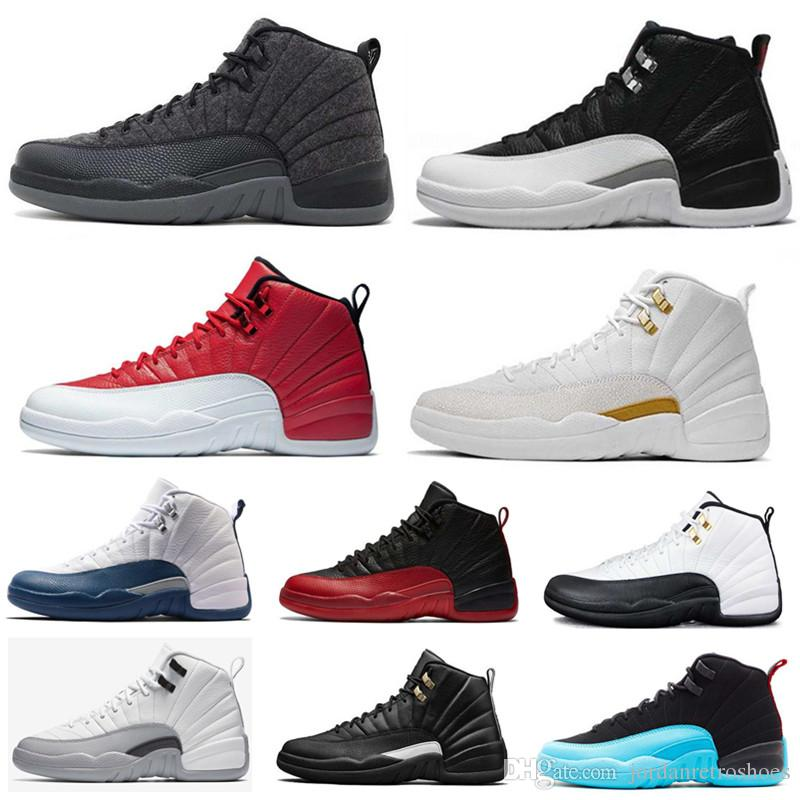 ba5ad72c391480 High Quality 12s Mens Basketball Shoes 12 OVO White Gym Red Master Men  Women Taxi Blue Flu Game Sports Shoes Sneakers Size 7 13 Cheap Shoes 4e  Basketball ...