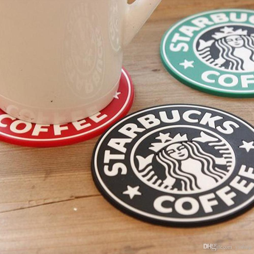 Coffee Coasters Cup Silicone Coasters Starbucks Cup Mat Sea-maid Circular Antiskid Coasters Heat Insulation Pads Table Decoration Coffee Mat