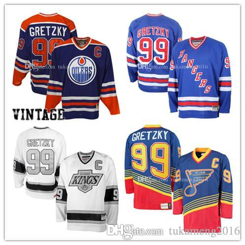 2019 99  Wayne Gretzky Edmonton Oilers Hockey Jersey St. Louis Blues Los  Angeles Kings New York Rangers NHL Jerseys Embroidery And 100% Stitche From  ... f9a905d1f