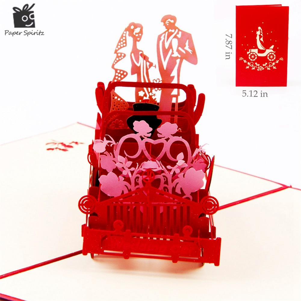 Red 3d Wedding Carriage With Lovers Personalized Handmade 3d ...