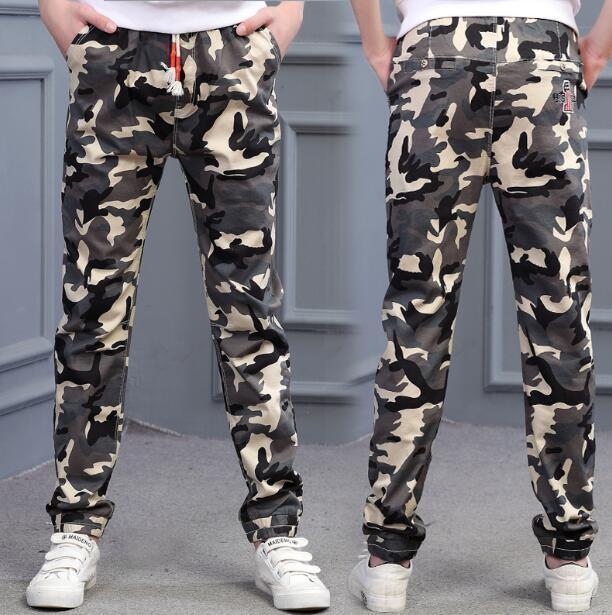 f673f8427ae2a Jungen neue ankunft frühling herbst einzigen hose Baumwolle Casual  Camouflage Hosen Mode Kinder Hosen Hosen 8 10 12 14 Y