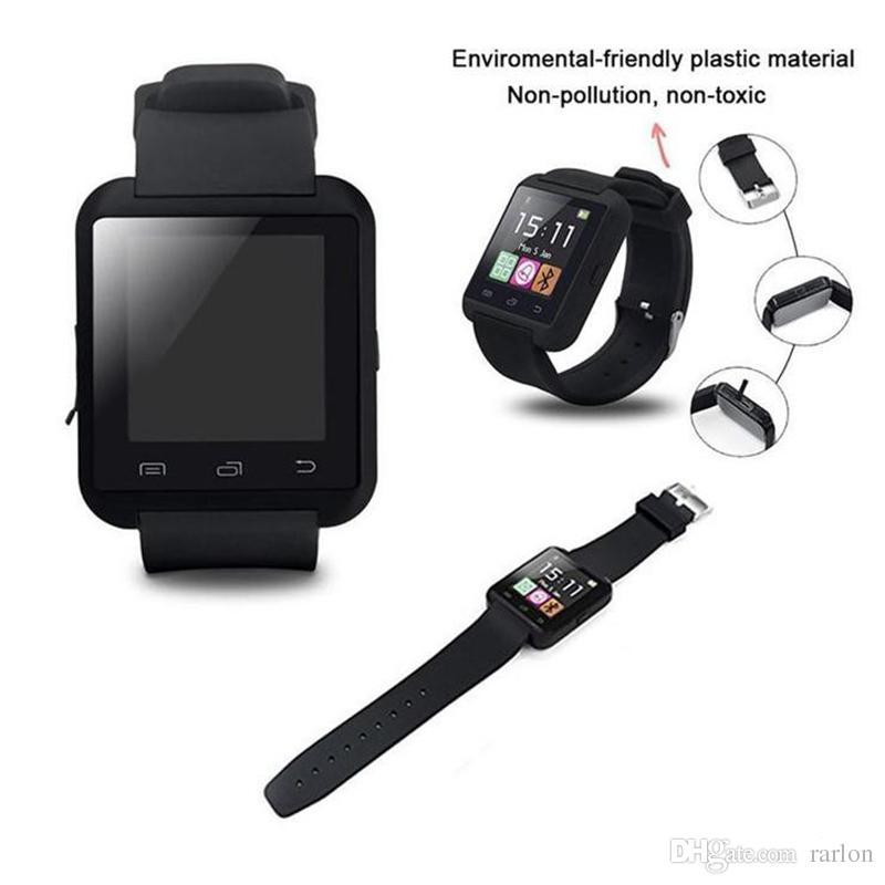 U8 Akıllı Bluetooth Smartwatch U8 U İzle VS DZ09 A1 Akıllı İzle ios iPhone Android Ücretsiz DHL için Bilek Saatler nakliye