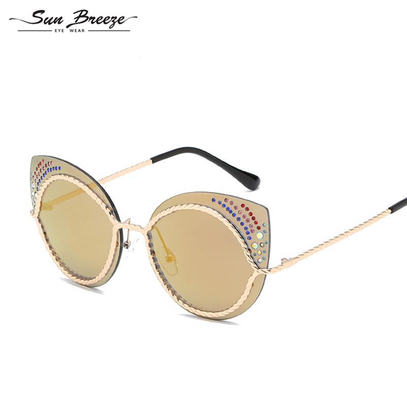 Compre Nova Moda Retro Designer Super Rodada Óculos Círculo De Alta  Qualidade Olho De Gato Óculos De Sol Das Mulheres Óculos De Motorista Óculos  UV400 Com ... b9d67374f3