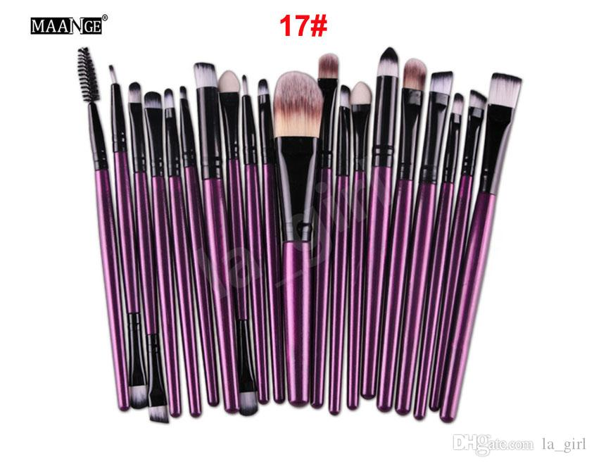 MAANGE / set Pro Eye Shadow Lash Foundation Eyeliner Eyebrow Lip Brushes Kits Pinceles de maquillaje Herramientas Cosméticos Belleza Maquillaje Brush