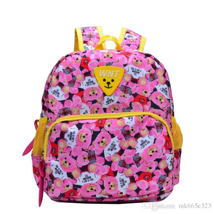 Kids Double Shoulder Pack School Bag Lunch Boxes Carry Bag Oxford Preschool Toddler Backpacks for Boys Girls 3-6Y