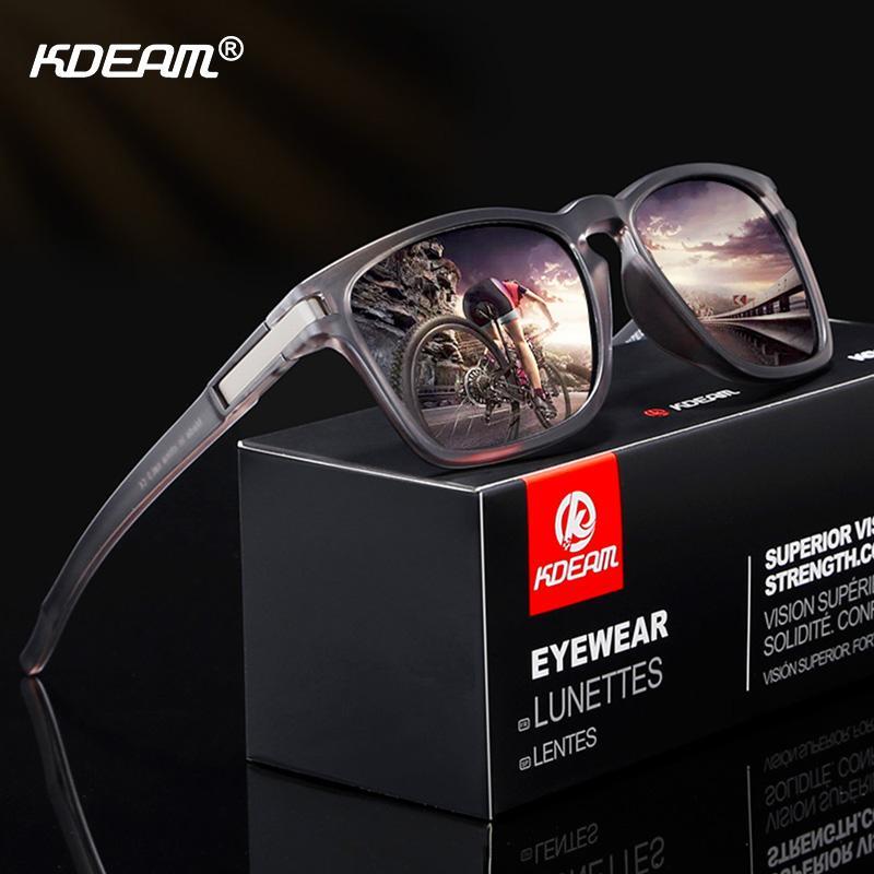 5dc980a8e0e48 Compre KDEAM Esporte Estilo Polarizada Óculos De Sol Das Mulheres Dos Homens  HD Condução Óculos De Sol Ultraleve Quadro UV400 Óculos Masculinos Óculos  Gafas ...