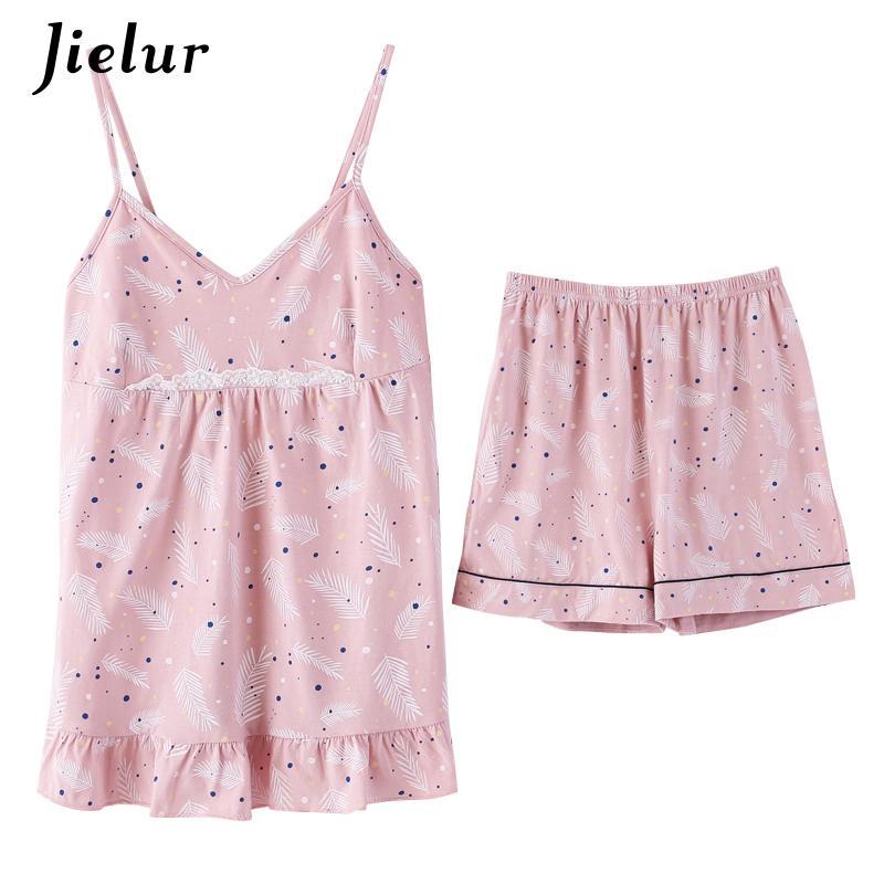 a1f52f7457 2019 Wholesale Sexy Cotton Women Cami Top+Shorts Cute Sleeveless Ladies  Pajama Sets Dot Print Pijama Striped Sweet Homewear XXL Dropship From  Clothesg202