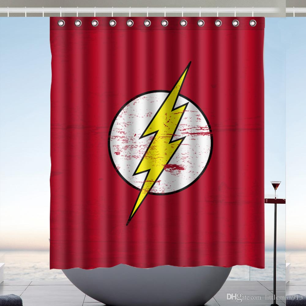 2018 The Flash Shower Curtain Bathroom Waterproof 60x72 Inch Online Top Quality From Littleman913 3718