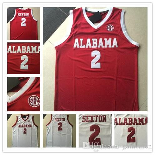 Alabama Crimson Tide  2 Collin Sexton Red White Stitched NCAA ... f0a9927a3