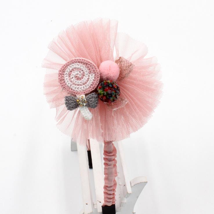 한국 레이스 꽃 크라운 사슴 헤어 밴드 auze 헤어 액세서리 사랑스러운 자수 머리띠 여자 헤어 보우 공주에 대한