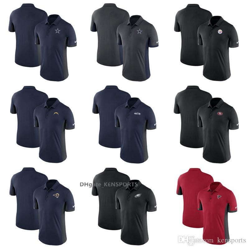 2018 Men Pittsburgh Steelers Dallas Cowboys Los Angeles Chargers San  Francisco 49ers Falcons Seahawks Navy Evergreen Navy Polo Shirt New Shorts  New Jersey ... 79edd46bb