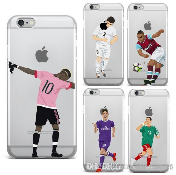 90deebd7b96 Cases For IPhone 5 5S SE 6 6S PLUS 7 7 PLUS Ultra Thin Football Clear Phone  Football Superstar Winner Messi Ronaldo Rooney IPhone 5 Case Iphone 7 Case  ...