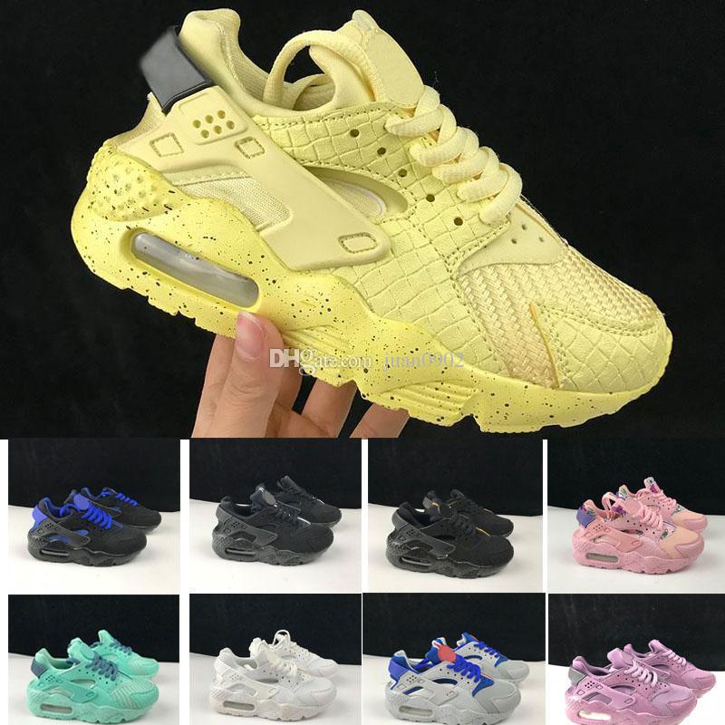 3c62ce765e54 2018 New Air Huarache Running Shoes Trainers Big Kids Boys Girls Men ...