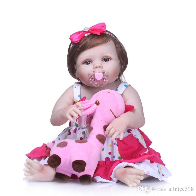 8816c0d9e23c0 Acheter Miniature 23 57cm Réaliste Reborn Baby Doll Réaliste Nouveau Né  Bébé Fille Poupées De  80.31 Du Allnice598