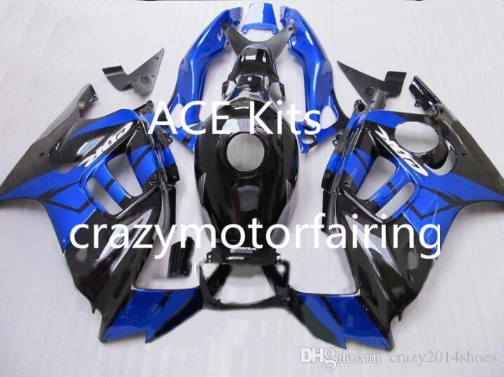 Kit carenatura moto HONDA CBR600F3 97 98 CBR600 F3 CBR 600F3 1997 1998 ABS caldo Set carenature nero blu + 3gifts 39