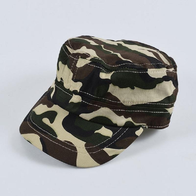 f4ee9923f18 2019 Summer Baby Hat Girls Boys Camo Camouflage Army Cadet New Fashion Flat Bill  Sun Cap Children Outdoor Sports Hats Ca From Breadfruiter
