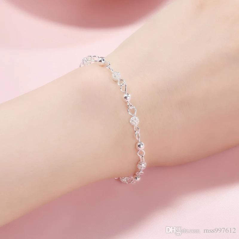 2019 Sterling Silver Bracelet Female Korean Version Simple