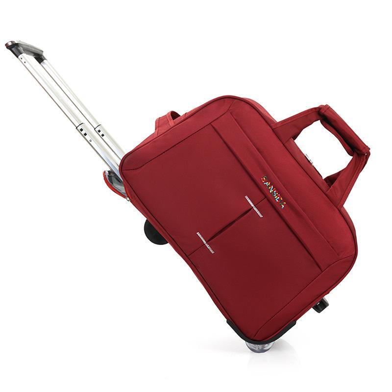 9368d7ab1331 Fashion Travel Bag Men Roller Bag Women Wheel Big Tie Folding Trolley  Handbag Luggage Tank Fashion Waterproof Roller Travel Kids Rolling Suitcases  ...