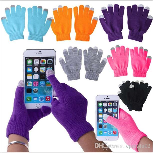 cd82dac9c25a3 2019 DHL Knit Wool Touch Gloves For Mobile Phone Touch Screen Gloves For  Smartphone From Epart4u02, $0.54   DHgate.Com