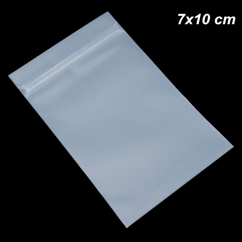 c0b5cbc0d60f 7x10 cm 200 Pieces Lot Matte Clear Zip Lock Self Adhesive Plastic Packaging  Bag Gift Travel Notebook Package Pouch Grocery Clothes Pack Bags