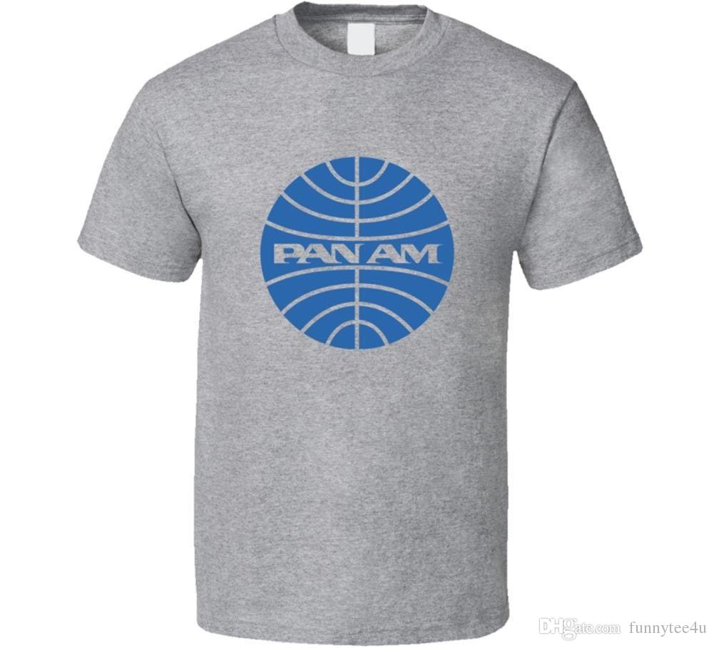 Acquista t shirt pan am retro uomo tee airways aereo linea aerea